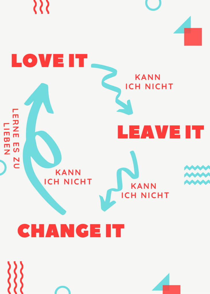Love it, leave it or change it - Infografik.